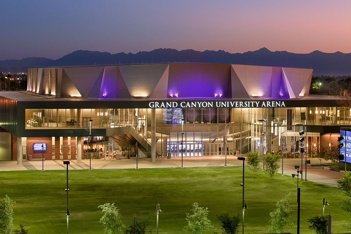 Outside view of the GCU Arena