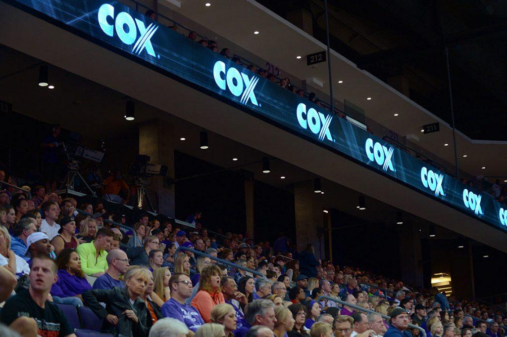 GCU Arena sponsored Cox digital signage in GCU Arena