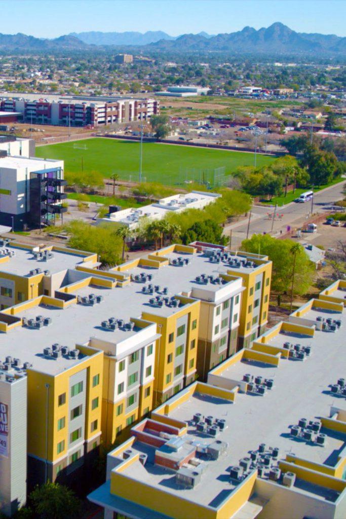 Aerial view of GCU campus