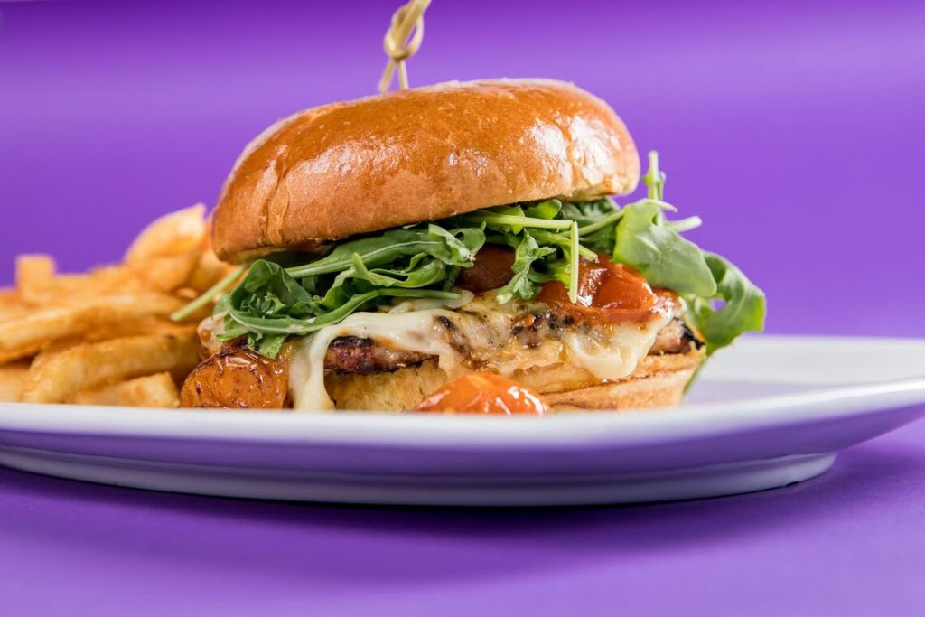 Picture of a Chicken Sandwich and fries.