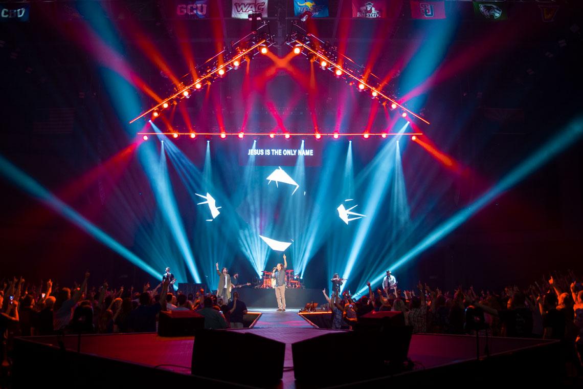 GCU Chapel performance taking place at GCU Arena