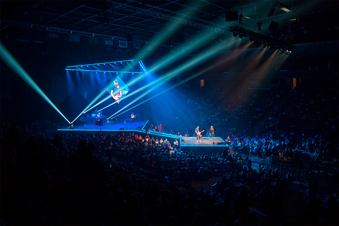 Concert with light show at the GCU Arena