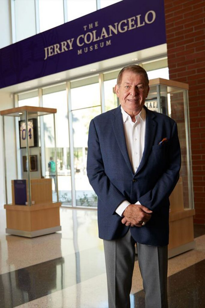 Jerry Colangelo standing inside of the Jerry Colangelo museum
