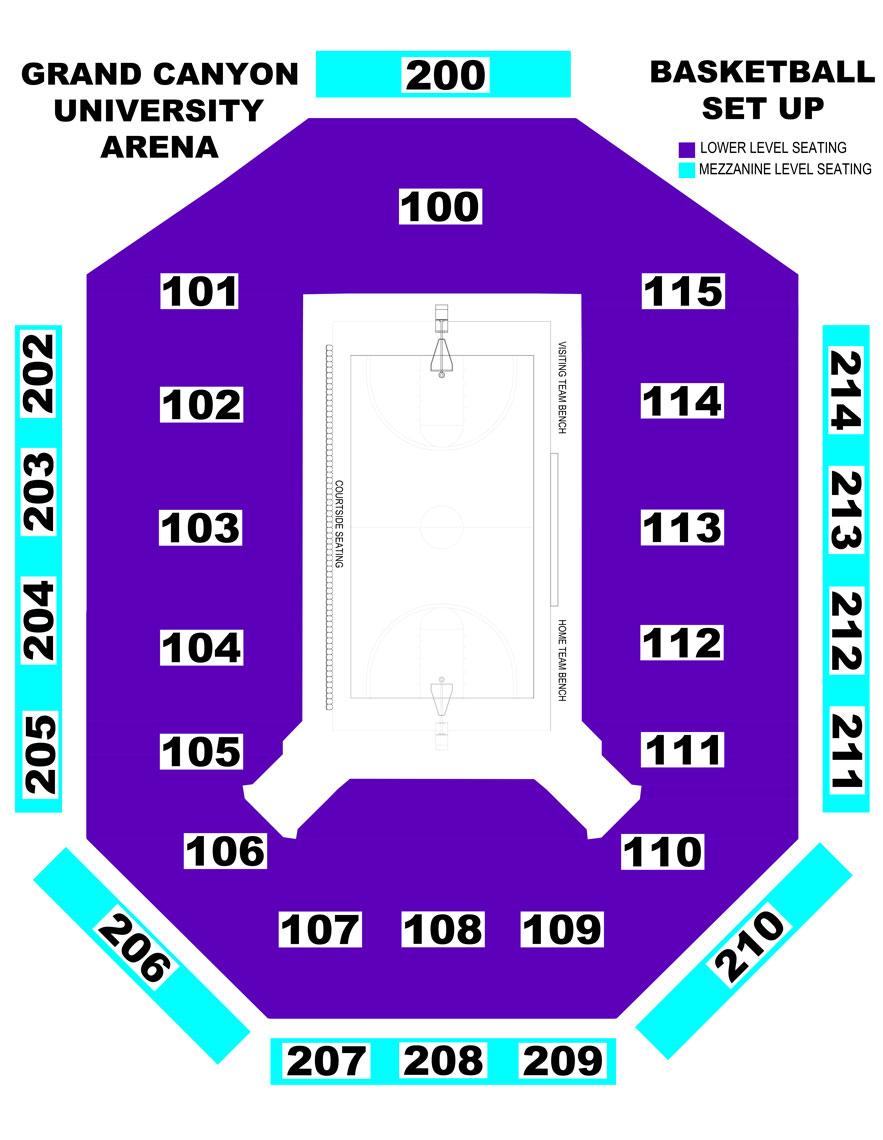GCU Arena basketball seating chart