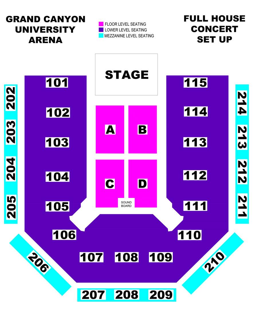 GCU Arena concert seating chart