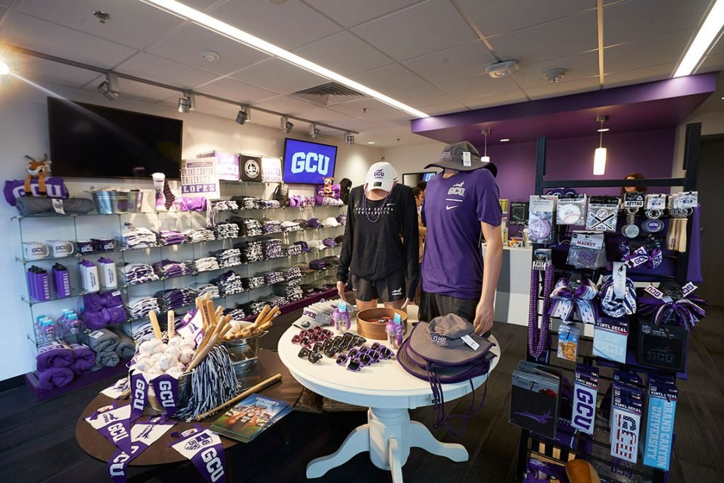 View of a GCU Lope Shop Store with GCU Merchandise